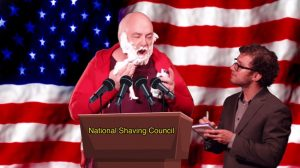 Shavey Dave holds press conference to address issues concerning the national shaving council