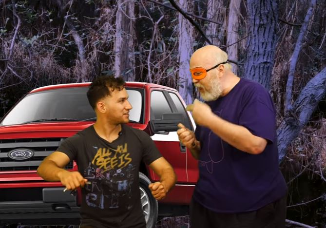 Guy getting car jacked in the swamps has his crime reenacted by award winning actors