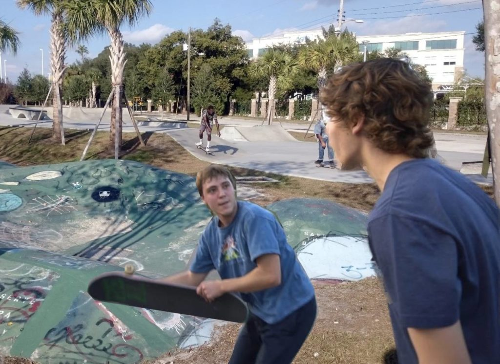 Richard and Lyle got into a fight at the skate park