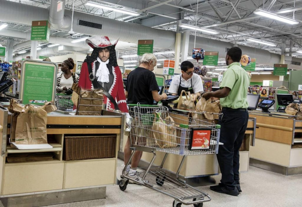 From now until the end of Gasparilla - Customers who come in dressed as a pirate can enter to win the Eat the Booty like Groceries sweepstakes at Publix