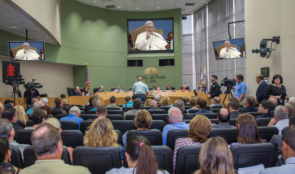Hillsborough County holds emergency meeting after Pope cancels trip to Tampa